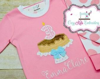 Pancake Pajamas, Girls Pancake Pajamas, Birthday Pajamas, Sleepover Pajamas, Party Pajamas