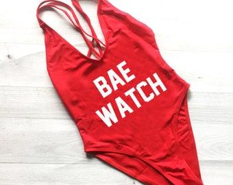 NEW Bae Watch Swimsuit. Bachelorette Bathing Suit. Bae Watch  Bathing Suit. One Piece Swimsuit.