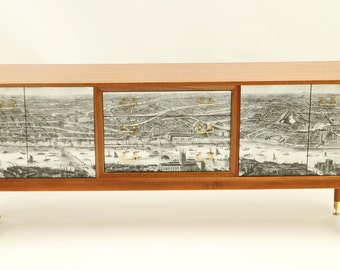 Upcycled G Plan sideboard with River Thames art work
