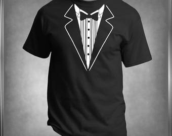 Fun, Tuxedo Faux T -Shirt, Personalize the Colors, All Sizes Infant 6 mos to Adult 6-XL