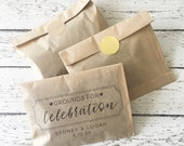 Wedding Favor Coffee Bag Kit - Set of 24  | Personalized Coffee Favor Bag | Personalized Wedding Favors | Grounds For Celebration