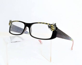 Reading Glasses with Bee, reader glasses +2.50
