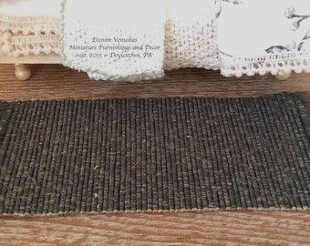 Miniature Blue Carpet Runner for a Dollhouse ~ 1:12 Scale