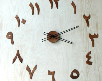 70cm (27.56 in) Wooden clock arabic digits / letters