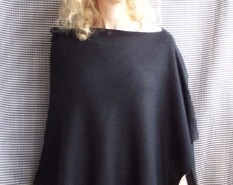 knit glitter sparkly black poncho wrap spring autumn evening musthave