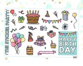 Happy Birthday Planner Stickers | ERIN CONDREN
