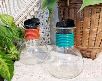 Midcentury Oil and Vinegar Set / Mod Style Dressing Set / Salad Dressing Set
