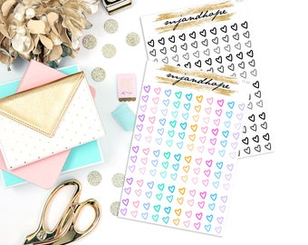 Floating Heart Checklists | TT06/TT07 | Teeny Tiny Planner Stickers