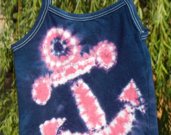 2T/3T Girls Tie-Dyed Anchor Cami