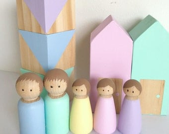 Peg Dolls Handpainted