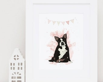 Custom Dog Portrait Custom Pet Portrait  Dog Portrait Custom Dog Illustration Dog Drawing Dog Memorial Digital Print Instant Download