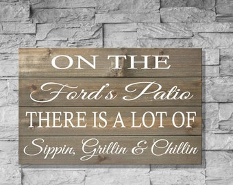 Rustic Patio Sign, Patio Sign, Entryway Sign, Patio Decor, Entry Way Sign, Entryway Decor, Rustic Entry Way, Foyer Sign, Wood Pallet Sign