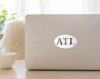 ATL Floral Watercolor Sticker- White Background
