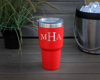30 oz Engraved Tumbler, Custom Tumbler, YETI like, Stainless steel Mug, Vacuum Insulated Mug, Personalized Tumbler--pc30-b-MHA