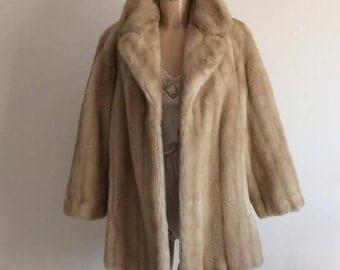 70s Honey Coloured Faux Fur Coat