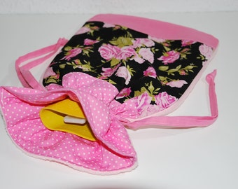 Hot-water bottle cover, roses