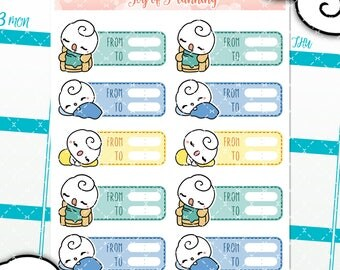 Sleeping planner stickers, planning, sleep tracking stickers, bedtime stickers, sleeping stickers, erin condren, waking up GOP015