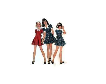 1970s Vintage Sewing Pattern - Simplicity 5876 - Girls Mini Dress