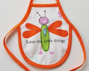 Wine Bottle Apron, Love the little things, Novelty Gift, Unique Gift Idea, Bottle Cozy, Valentine's Day Gift, Love, Lovers, Gift for Her