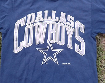 Classic 80's / 90's Dallas Cowboys Logo 7 Made in USA Vintage T-shirt large