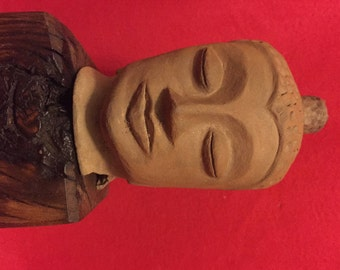 Beautifu, handmade, antiquel terra-cotta BUDDHA