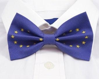 European Union Flag Bow Tie, EU Flag Bow Tie