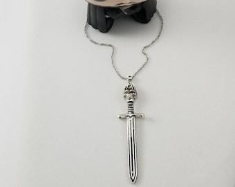 Game of Thrones Jon Snow Sword Necklace, Long Claw Necklace, Game of Thrones Gift, Game of Thrones Jewelry