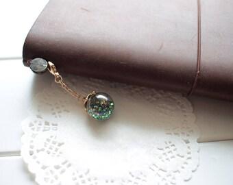 Black/ Green Glitter Planner Charm, Sparkle Sequins Planner Charm, Planner Girl Charm