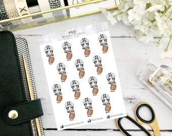 Chic-bi: Football Neutral Planner Stickers~ for use in ECLP, Happy Planner, Travelers Notebook, hand drawn chibi, game day,football practice