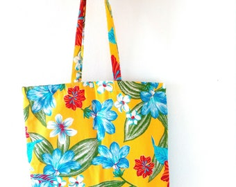 tote bag chita tropical brazilian fabric