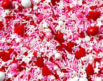 Friends With Benefits Sprinkle blend, Valentines Day Sprinkles, Pink & Red Sprinkles,  Edible Sprinkles, Sprinkle Blend, Fancy Sprinkles