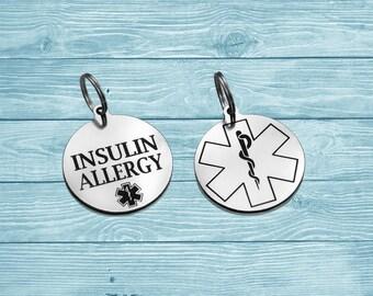 Medical Tag, Medical ID Tag, Medical Nacklace, Medical Id Nacklace, Medical Alert, Personalized Tag, Custom Tag, Engraved Tag