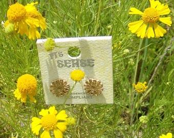 Gold Flower Studs | Gold Flower Earrings | Daisy Stud Earrings | Gold Studs
