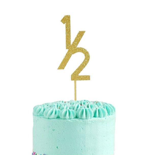 Half Birthday Cake Topper 6 Months Cake Topper Cake Topper