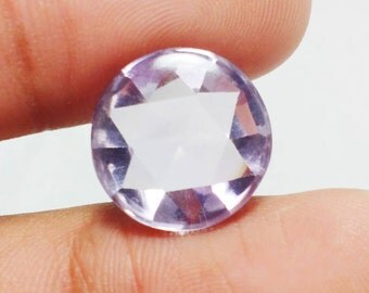 10% SALE AAAA+++ Quality Natural Brazillian Amathyst 15X15 mm Round Cab Checkerboard Cut Purple Pink Color