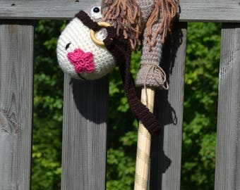 Hobby / horse stick to crochet