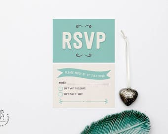 Personalised Wedding Invitation RSVP - Our Ever After