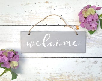 Wooden Sign, Wooden Plaque, Hand Painted, Hanging Sign, Welcome Sign, Wedding Sign, New Home, Housewarming Gift, Hand Lettered, Home Sign