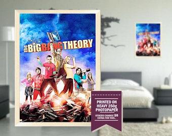 Big Bang Theory poster, fan art, big bang theory poster, GIFT, digital drawing design, big bang theory print, tv series poster, gift ideas