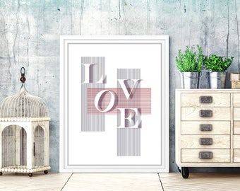 Love print. love art print. love printable. love wall art. love quote printable. love digital prints. love wall decor. love poster. love art