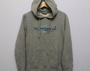 Vintage Town And Country Surf (T&C)sweatshirt hoodies Size fits to M Surfer Beach Skate