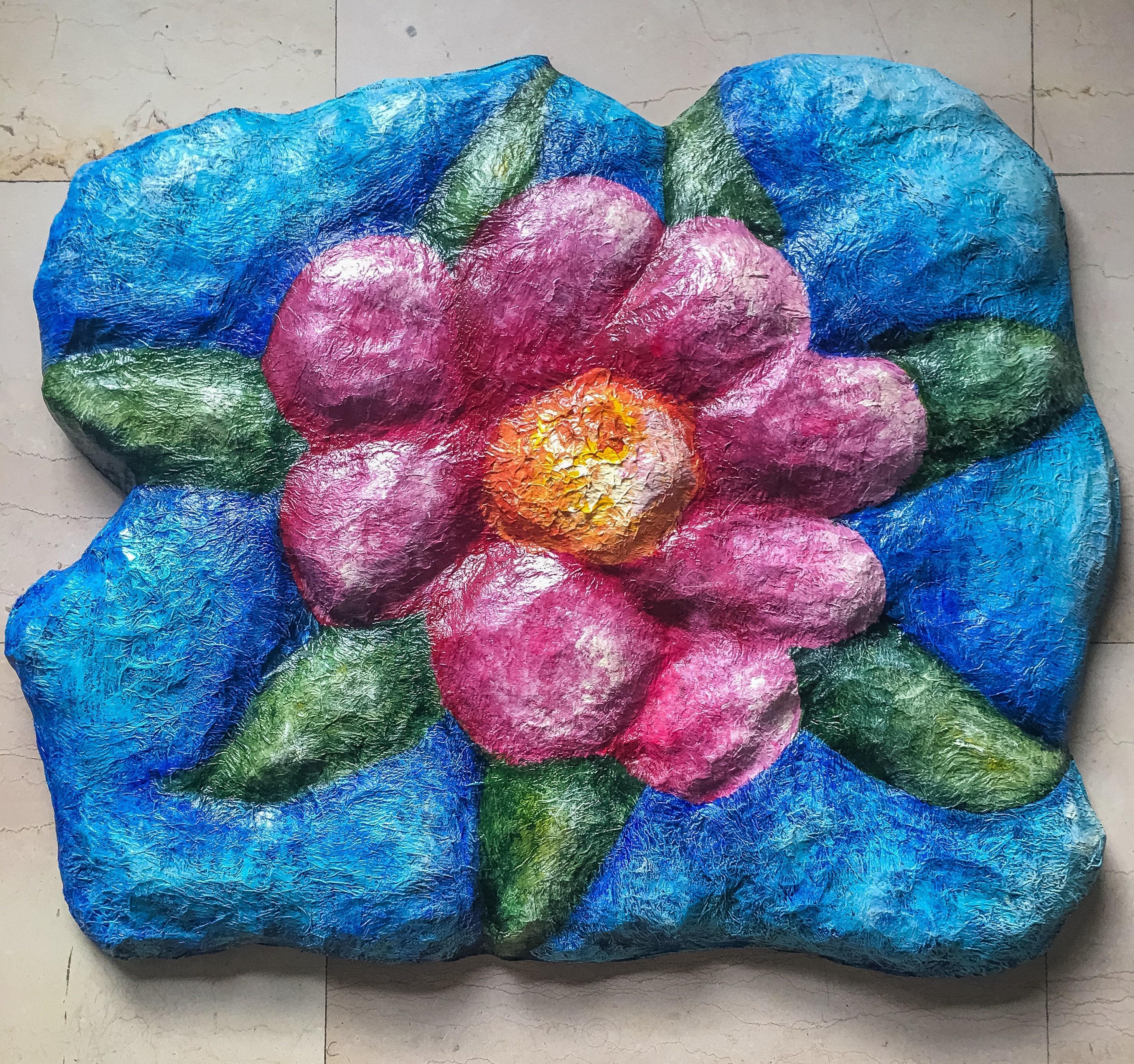 Big Flower Paper Mache Sculpture E1023101840998359m 4399
