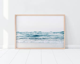 Ocean Print/ Beach Print/ Coastal Print/ Blue Water Print/ Tropical Print/ Printable Art/ Seascape Print/ Serene Print/ Ocean Waves Print