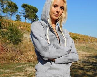 Hand-painted organic cotton sweatshirt