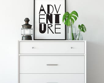 Adventure Print, Custom Print, Outdoor Print, Physical Print, Wall Decor, Wall Art, Home Decor, Kids Room Decor, Boys Room, Kids Room, Wild