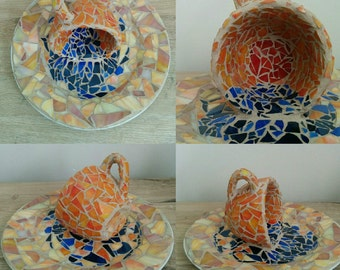 Sunset Cup Mosaic