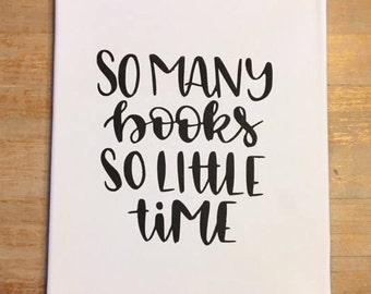 So Many Books Canvas Art