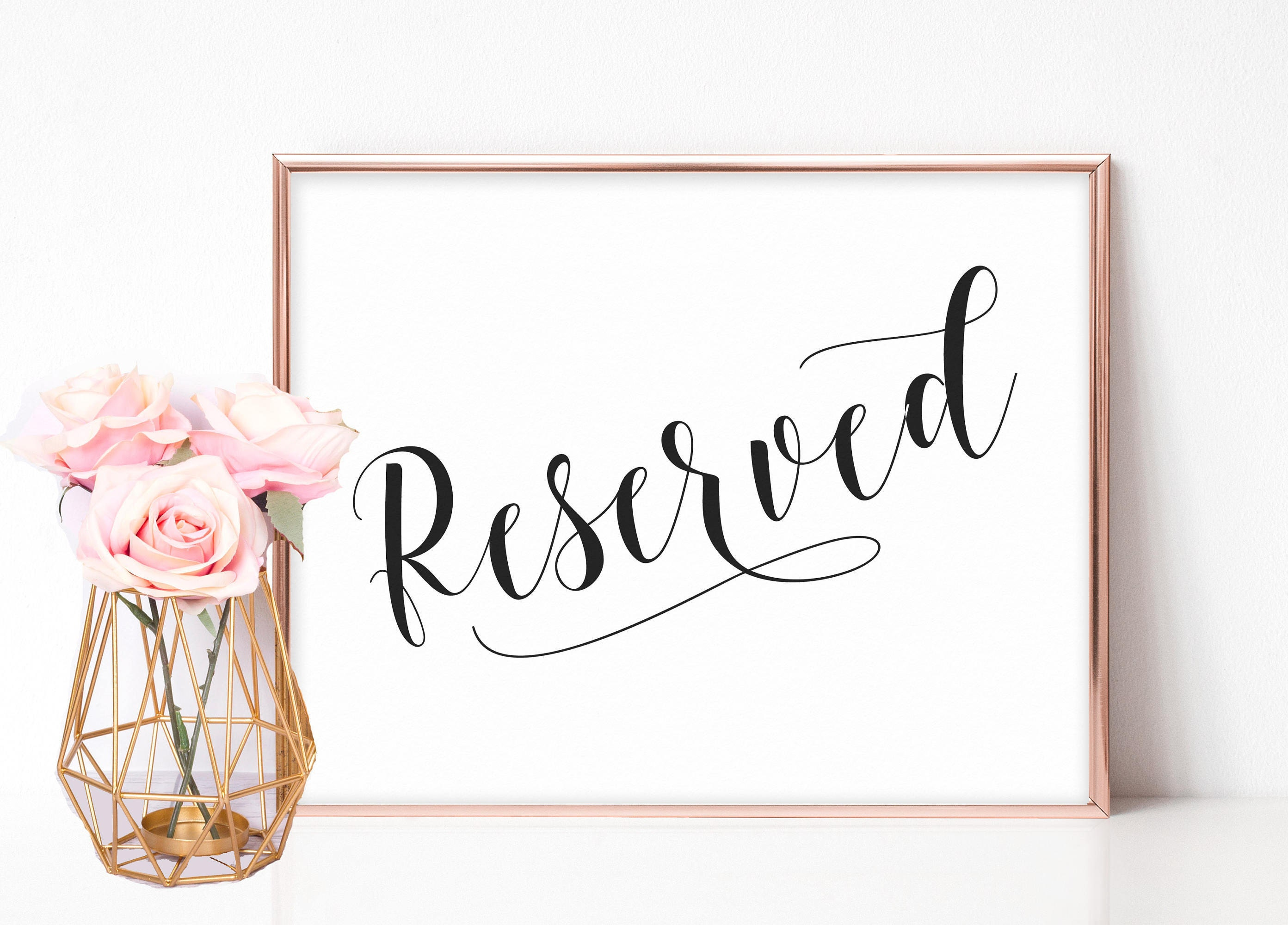 It is a photo of Divine Printable Reserved Signs