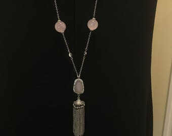 Love  Rose Quartz  Necklace by Dobka