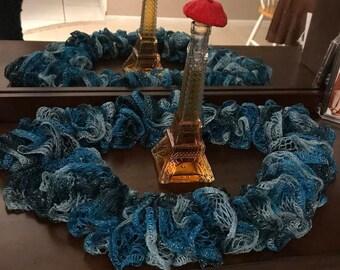 Knit Blue Scarf